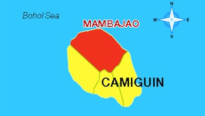 Map of Mambajao, Camiguin