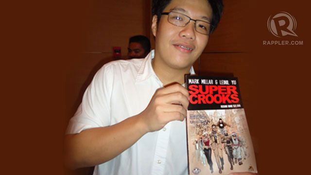 COMIC BOOK FILIPINO PRIDE. In the comic book community, Leinil Yu is regarded as a 'superstar.' Photo by Jerald Uy