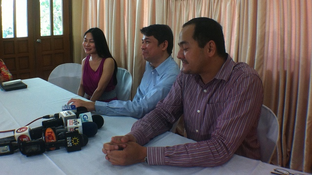 SPOKESPERSONS. Karen Jimeno, Tranquil Salvador and Rico Quicho were the ones who often faced the media. Photo by Rappler/Natashya Gutierrez
