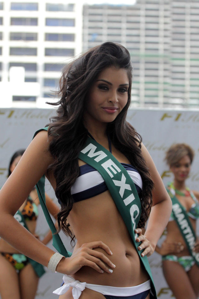 FEMME FATALE. Miss Mexico Yuselmi Cristal Silva admits to having an interest in boxing.