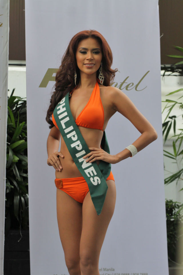 PRESSURED. Miss Philippines Angelee de los Reyes admits she is pressured to win after the winning streak of the Philippines in other pageants.
