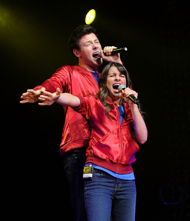 CHEMISTRY. Monteith and Michele at Radio City in 2010. File photo: Jason Kempin/Getty Images/AFP