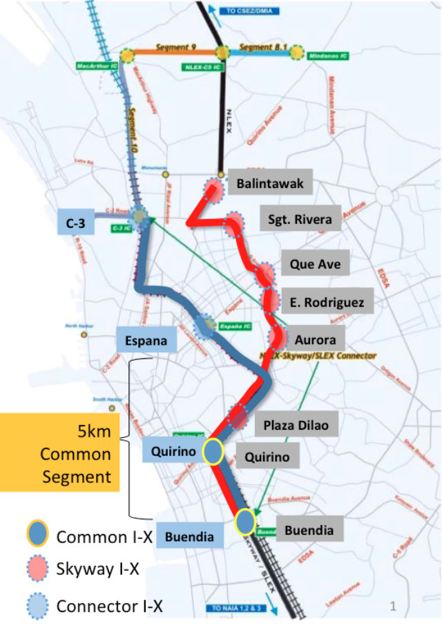 CONNECTOR ROAD. This is the proposed map of the NLEX-SLEX Connector road to be undertaken by Metro Pacific and San Miguel-Citra. Photo taken from a presentation provided by the PPP Center.