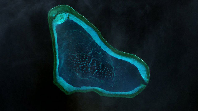 DISPUTED AREA. China insists on calling Scarborough Shoal an island. File photo