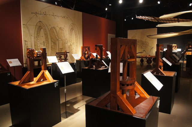PHYSICS. The Physics area of the Da Vinci: The Genius exhibit. Photo courtesy Mind Museum