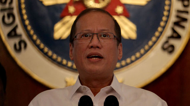 CONSPIRACY IN SABAH? President Benigno Aquino III expresses his views on the standoff in Lahad Datu during a press conference on Monday, March 4. Photo by Benhur Arcayan / Malacau00f1ang Photo Bureau