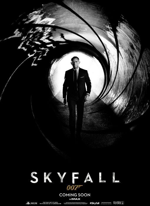 First poster for the James Bond film u0022Skyfall.u0022 Image courtesy of www.007.com.