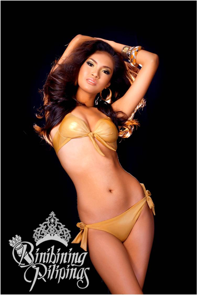 OFFICIAL SWIMWEAR. Mercegrace Raquel in the Bb Pilipinas official swimwear photo from the Araneta Center Marketing Department