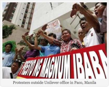 PROTEST? Screenshot of photo from So What's News article.