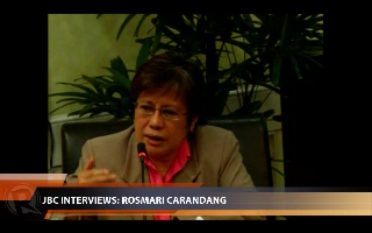 CARANDANG. Career judge.