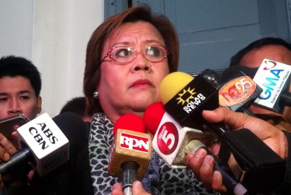 PRESIDENT'S CALL. De Lima said the president has to give his permission first if she can allow the Puno probe at the Senate hearing or not.