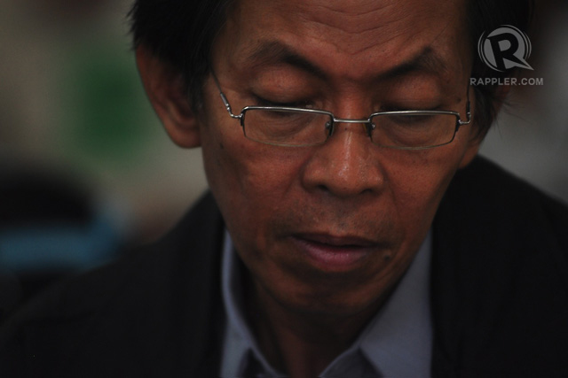 ON TRIAL. Jovito Palparan, Jr sits listening at a Department of Justice hearing. Photo by Geloy Concepcion