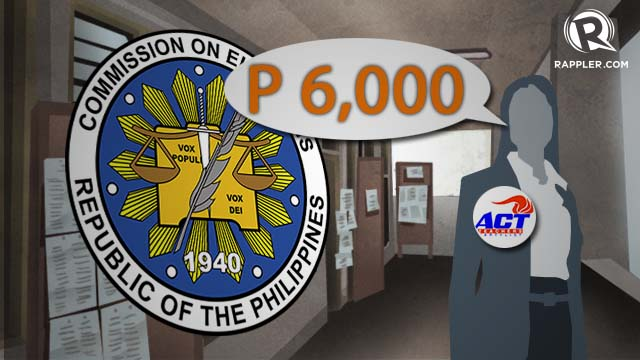 WORKING HARD. The Alliance of Concerned Teachers is demanding P6,000 in pay for those serving in the midterm elections.