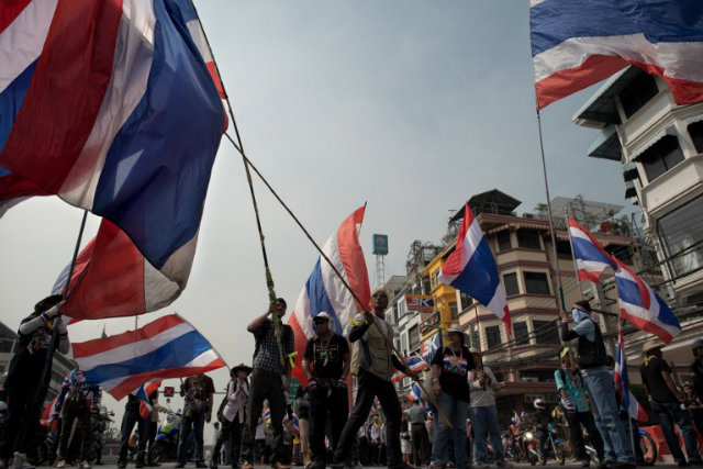 PROTESTS. Thailand's political crisis is set to enter a tumultuous new phase on January 13 with the planned u0022shutdownu0022 of Bangkok by opposition protesters seeking to prevent upcoming elections. File photo by Nicolas Asfouri/AFP