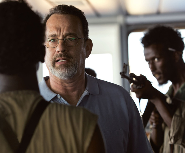 'VERY GOOD PORTRAYAL.' Tom Hanks as 'Captain Phillips.' Image from the film's Facebook