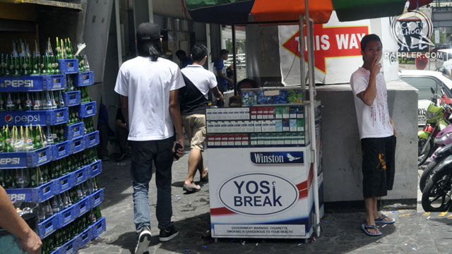 NO YOSI BREAK. Stores located 100 meters within a school zone are not allowed to sell cigarettes. Photo by Leanne Jazul/Rappler