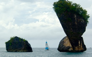 ANGULAR CLIFFS. There are limestone cliffs in other Asian countries, but none can match the breathtaking beauty of the ones in Palawan.