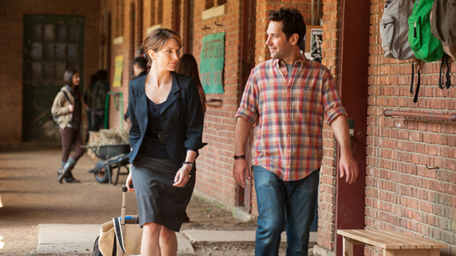 UPSIDE DOWN. John Pressman (Paul Rudd) enters Portia Nathan's (Tina Fey) life and turns it around