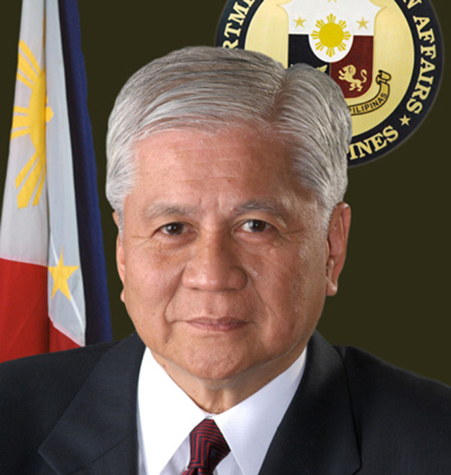TAKING CHINA TO COURT Foreign secretary Albert del Rosario. Photo courtesy of DFA