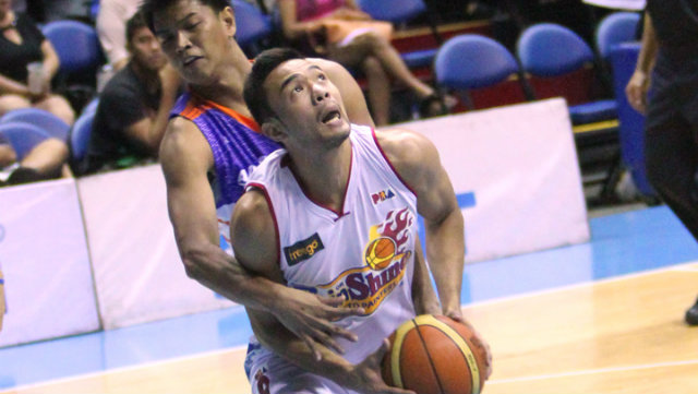 NEXT GENERATION. Alex Nuyles was one of three RoS rookies to come up big against Air21. Photo by Nuki Sabio/PBA Images