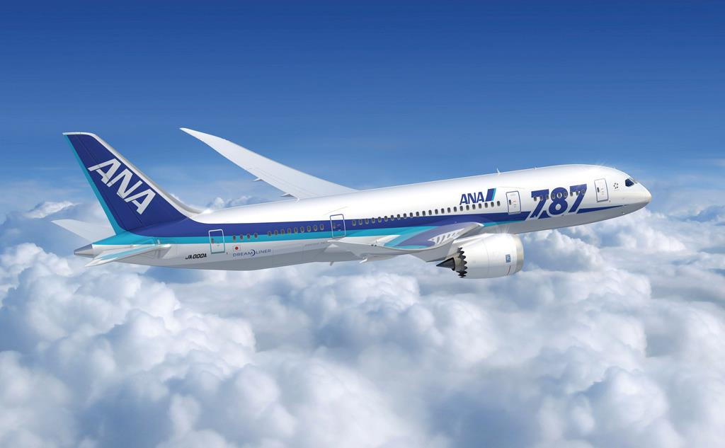 An ANA 787 Dreamliner promotional photo. Photo courtesy of ANA All Nippon Airways.