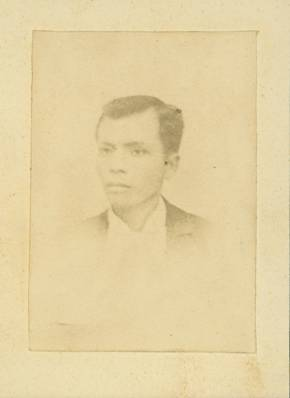 WHERE'S THE BOLO? This is the only known surviving photo of Gat Andres Bonifacio. Photo from Wikimedia Commons