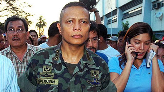 BOTCHED MUTINY. Former Marine Col Ariel Querubin in the February 2006 standoff.