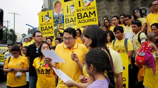YOUNGEST SENATOR? Bam Aquino is only 35 as he launches his Senate bid. Photo by Don Regachuela