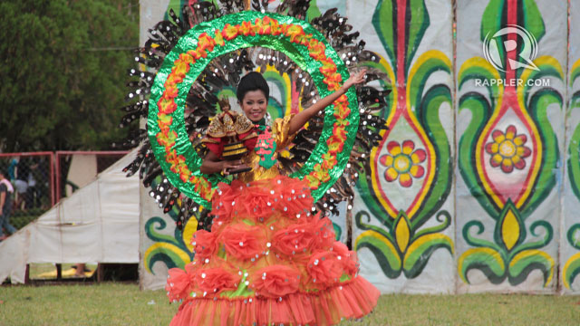 The Child Jesus-bearing dancer from the Tribu Merrymakers of Malitbog Concepcion National High School