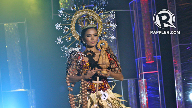 FESTIVAL QUEEN. Crowd favorite Zandra Flores wore a costume inspired by Santo Niu00f1o festivals in the Philippines