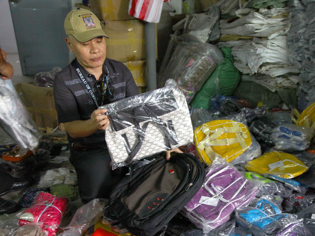 The Bureau of Customs warns consumers of other counterfeit items passed as genuine products being sold in several stores in Manila. Photo courtesy of BOC