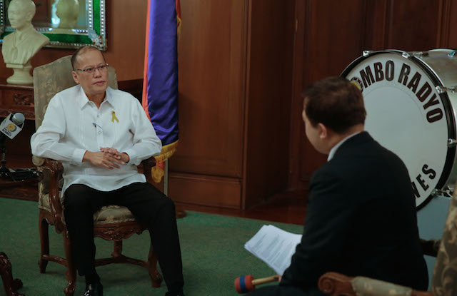 SECOND TERM? President Benigno Aquino III says in a television interview that he is open to a second term, but sources say it was all a strategy. Malacau00f1ang Photo Bureau