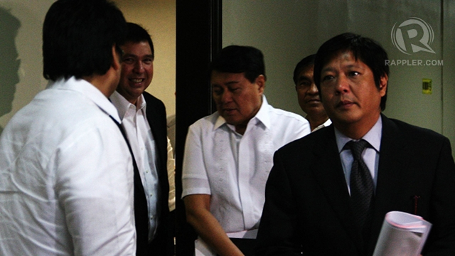 VILLAR'S PARTYMATE. Sen. Bongbong Marcos is part of the Nacionalista bloc in the Senate. Villar says members of the bloc will vote according to their conscience. Photo by Emil Sarmiento