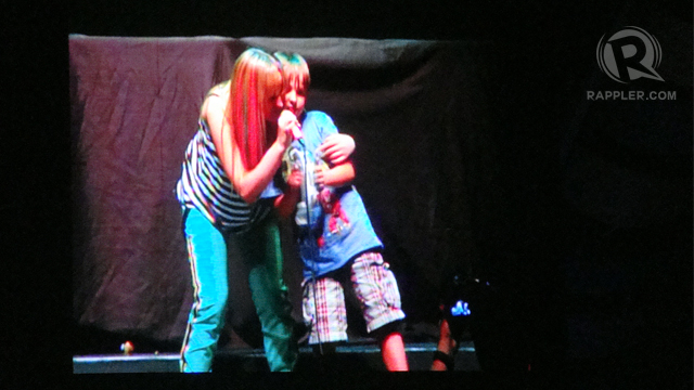 ALL IN THE FAMILY. Camryn's younger brother joins her onstage. Photo by Bert Sulat Jr.