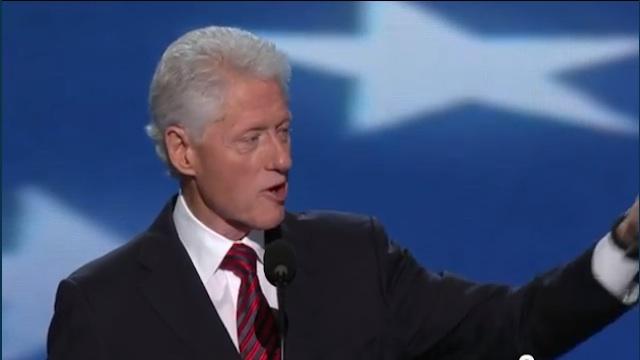 ENDORSING OBAMA. Former US President Bill Clinton speaking during the Democratic National Convention in Charlotte, North Carolina, September 5, 2012.