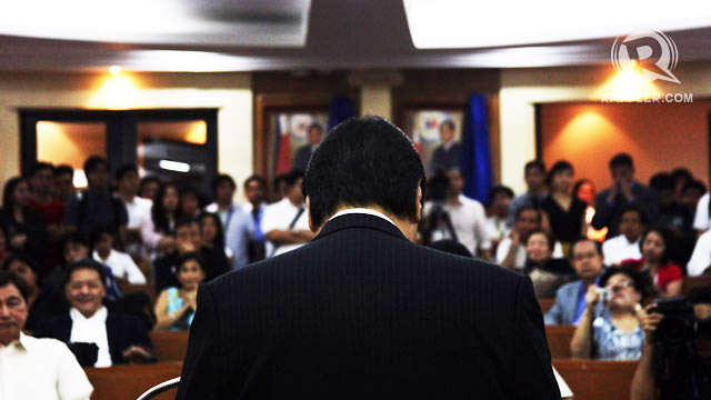 CRYING INQUISITION. In a speech last week, Chief Justice Renato Corona says the impeachment trial has turned into an inquisition. Photo by Emil Sarmiento