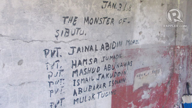 Names of some of the fallen soldiers of the Jabidah massacre