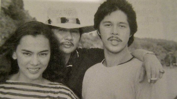PLEASED TO MEET YOU. Danny Zialcita flanked by his 'Tinimbang ang Langit' stars Kuh Ledesma and Christopher De Leon