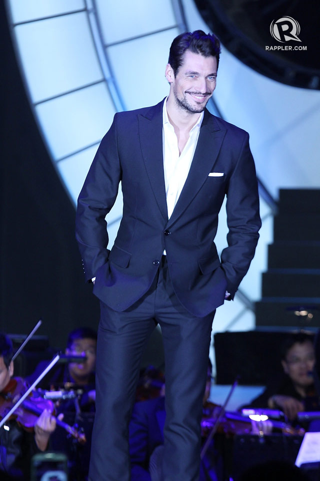DAPPER. David Gandy gives the crowd a sunny smile