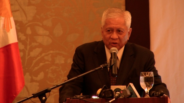 NO SABAH CLAIM NOW. Foreign Secretary Albert del Rosario agreed with President Benigno Aquino III in saying that the historical claim over Sabah is not a priority for now. Photo by Carlos Santamaria