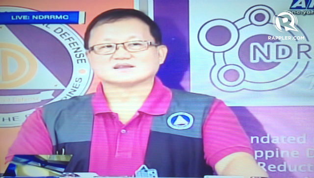 TOWARDS REHABILITATION. The NDRRMC's Eduardo del Rosario says that the government will focus on shelter, livelihood, agriculture and fisheries in rehabilitation efforts. Screenshot of ANC coverage