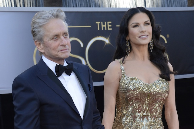 NOT A COUPLE ANYMORE? The file picture dated 24 February 2013 shows US actor Michael Douglas and his wife Welsh actress Catherine Zeta-Jones arriving for the 85th Academy Awards at the Dolby Theatre in Hollywood, California, USA. EPA/Mike Nelson