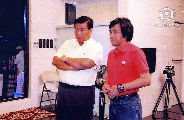 ACQUAINTANCE. Senate President Drilon says he only knows Jaime Napoles as 'the husband of Napoles.' Photo obtained by Rappler