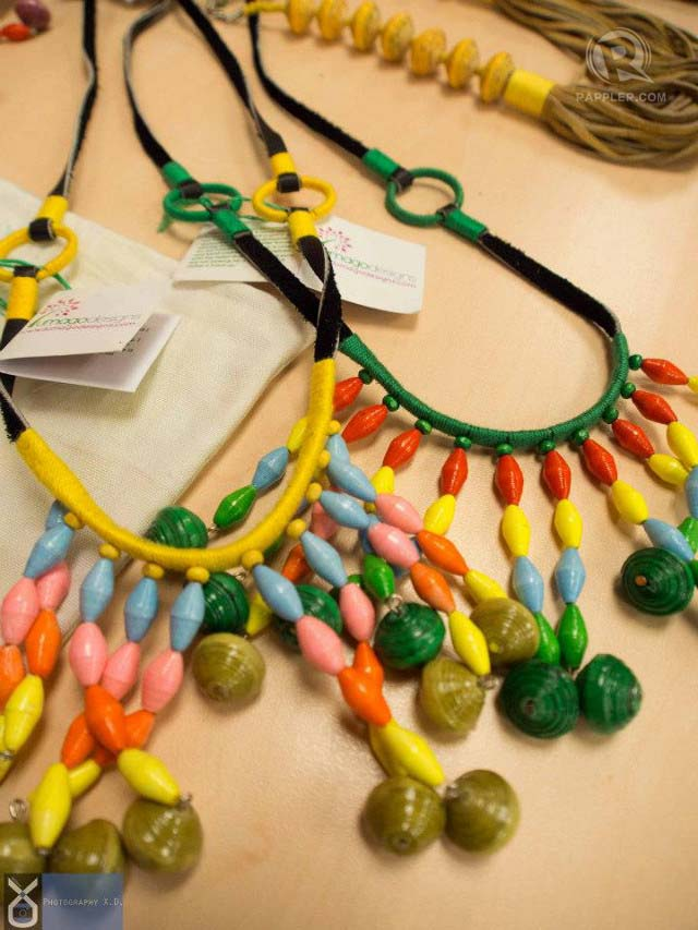 EARTH-LOVER ACCESSORIES. Lumago Designs make beautiful, hand-crafted jewelry from upcycled materials
