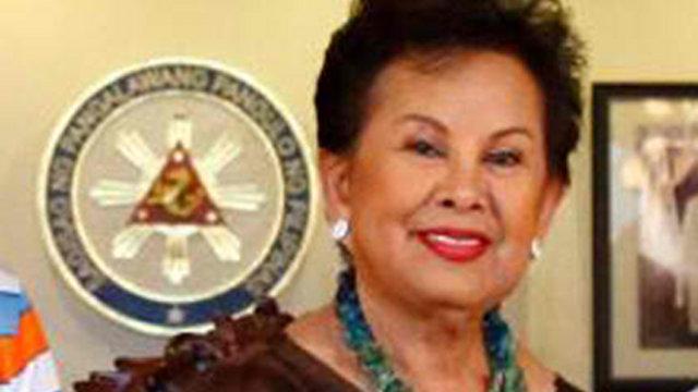 VICTIM OF LIES? UNA accuses Team PNoy of spreading lies against Mrs Elenita Binay. File photo