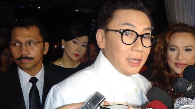 UPSET. u0022El Presidenteu0022 actor E.R. Ejercito wants to change the MMFF charter. Photo by Jerald Uy