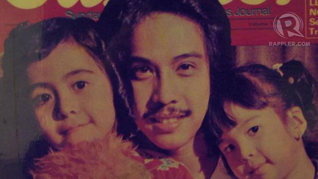 DADDY'S GIRLS. Rachel and Barni with dad Hajji on the cover of an old entertainment mag. Photo from Rachel Alejandro