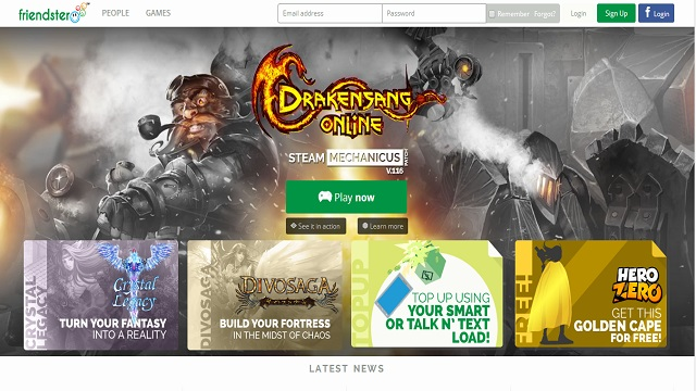 MAJOR MAKEOVER. Friendster's become just like any other gamer hub. Screenshot from Friendster.com