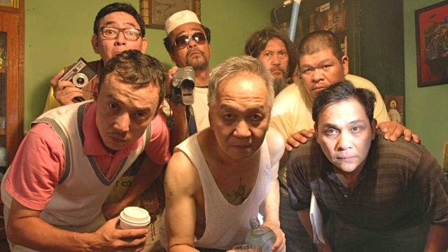 GANG WITH A BANG. (Clockwise from front, far left) Epy Quizon, Dwight Gaston, Soliman Cruz, Raul Morit, Hector Macaso, Nonie Buencamino and Mon Lee are all here.