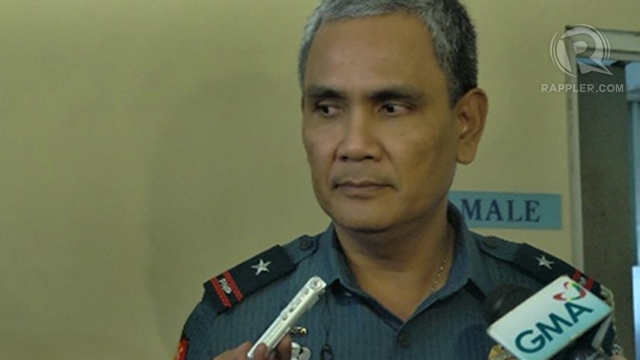 AWAITING ORDERS. Police Chief Superintendent Regional Director Marcelo Garbo Jr says any eviction order against Garcia will have to come from the national government and the DILG.